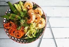 Poke bowl with shrimp it's that easy! - five forks Poke Bowl, Poke Recipe, Sushi Bowl, Buddha Bowl, Healthy Cooking, Shrimp, Vegan Recipes, Lunch, Jobs