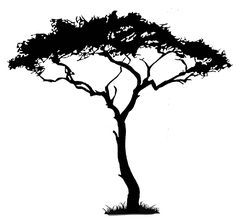 Tree Silhouettes | Another cute Popdecors offering is this savannah scene which I think ...