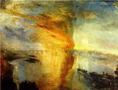 The Burning of the Houses of Parliament, 1835, William Turner