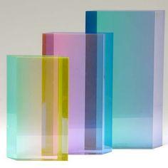 transparent coloured blocks