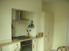 another oven in a chimney breast - space for a range though