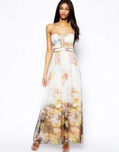 Little Mistress   Little Mistress Maxi Dress in Floral Print at ASOS