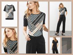 N░i░e░u░w░e C░o░l░l░e░c░t░i░e Luchtig licht T-shirt van viscose-jersey met grafische, glanzende print voor. Het shirt heeft een wat losser, recht model met een ronde hals en gelaagde zoom met split opzij. Materiaal / Onderhoud: Voorpand: 100% Polyester | Achterpand en mouwen: 100% Viscose Mag op 30 graden in de wasmachine.