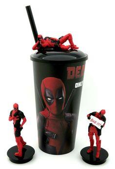 Deadpool 2 Cinema Movie Cup topper figures Full Set of 3 Collectible Cup Korea Cinema Movies, Full Set, Deadpool, Cups, Korea, Cool Stuff, Ebay, Collection, Tiles