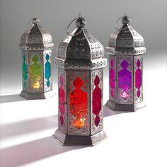 Moroccan Coloured Glass Lantern
