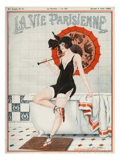 La vie Parisienne, Leo Fontan, 1923, France Lámina giclée