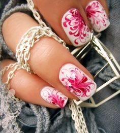 Christmas Nails Art - Flowers - Click pic for 25 Christmas Holiday Crafts DIY