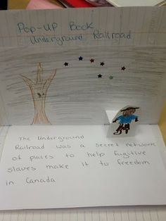 Social Studies Ideas for Elementary Teachers: The Underground Railroad Pop-Up in Interactive Not...