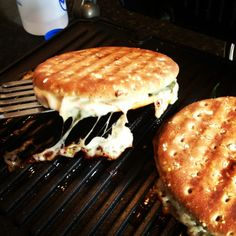 Turkey, Spinach and Mozzarella Panini - a   quick lunch you can make on the griddle!