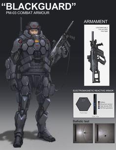 BLACKGUARD combat suit by *ProgV on deviantART