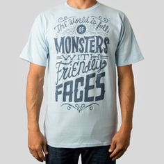 Monsters JayRoeder New series of typographic tees by Jay Roeder for Upper Playground upper playground typographic Jay Roeder graphic design ...