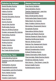 Some Handy Resources of Pre-made Rubrics for Teachers ~ Educational Technology and Mobile Learning