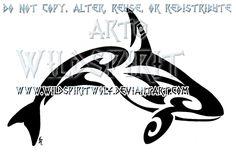 Tribal Killer Whale Tattoo by WildSpiritWolf.deviantart.com on @deviantART
