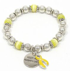 """I've finally been able to offer more of the Keep My Husband Safe Beaded Bracelets!  This style is also available in a """"Son"""" and """"Father"""" version."""