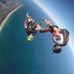 """""""@boogie_industries is back from skydiving around Europe. So much fun flying angles along the beach with him and @splitpin88. PC @splitpin88 from…"""""""