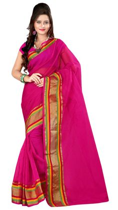 IndianBeauty Pink Cotton Sari (Pack Of 5) - paytm