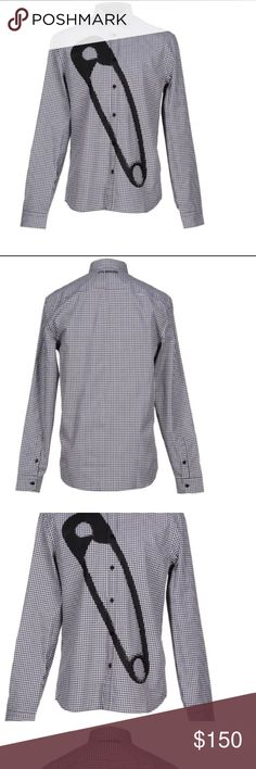 Men's Love Moschino shirt Composition: 100% Cotton Details: plain weave, print, checked design, classic neckline, long sleeves, buttoned cuffs, front closure, button closing, no pockets 100% authentic Love Moschino Shirts Casual Button Down Shirts