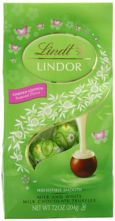 Lindt LINDOR Spring Milk with White Chocolate Chocolate Truffle 7.2 Ounce - http://bestchocolateshop.com/lindt-lindor-spring-milk-with-white-chocolate-chocolate-truffle-7-2-ounce/