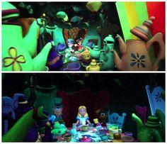 Old on Top...New on Bottom Alice in Wonderland Disneyland Video