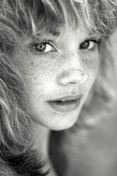 I have a thing for portraits of people with freckles.