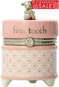 Capture this important milestone with this #First #Tooth Keepsake Box. The hinged cover and detailed metal accents make this a keepsake you will treasure.