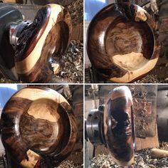 Third Walnut Bowl Seeking the Art of Japanese Wabi Sabi Getting Close wooden wood lathe woodturning walnut wabisabi bethelpark lazyriverwoodwork bark lovewhatido
