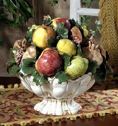 Tuscany - Provence - Footed Fruit Centerpiece