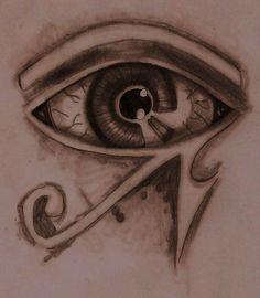 Egyptian Eye Tattoo by spongy-tweety on DeviantArt Egyptian Eye Tattoos, Tweety, Deviantart, Eyes, Cat Eyes