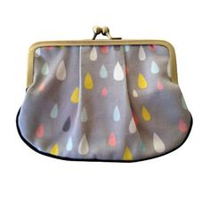 Craft Me Up Summer Raindrop Coin Purse Black Pipe, Rain Drops, Fabric Design, Pony, Coin Purse, Purses, Wallets, Summer, Pattern