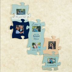 Life and Love Photo Frame Puzzle Piece Wall Art