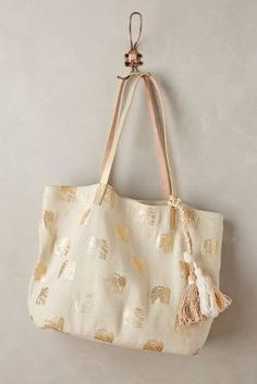 Anthropologie Gilded Elephant Tote #anthrofave