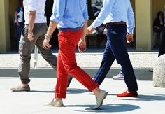 Red Pants, Red Shoes, Men, Men's Fashion, Men's Pants