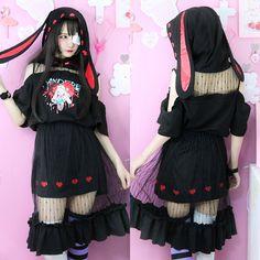 4c318284032 Cute Bunny · Hare · Bunny Nurse Yandere T-shirt/Skirt Set SD00340 Kawaii  Clothes, Shirt Skirt,