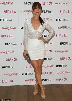 White hot: Juliette Lewis showed off her sensational figure in a plunging white mini dress at a screening of her new film Kelly & Cal in NYC on Thursday Celebrity Feet, Celebrity Style, Christina Ag, White Mini Dress, Nice Legs, Actress Photos, Fashion Addict, Girl Crushes, Beautiful People
