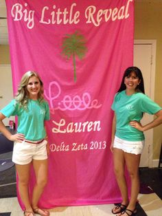 Big Little Reveal painted banner! Delta Zeta and Lilly Pulitzer make the perfect combination