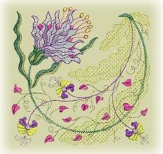 """Elizabeth"" from the American Beauty Collection San Francisco Stitch Co. Machine Embroidery Design"