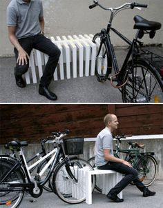 bike rack / bench. but how to weatherproof my bike if we do this outside?