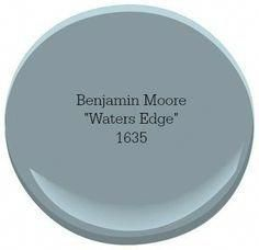 Our Favorite Coastal Blue Paint Colors for Your Home Benjamin Moore Waters Edge Blue Paint Colors, Bedroom Paint Colors, Exterior Paint Colors, Paint Colors For Home, House Colors, Stain Colors, Bathroom Colors, Small Bathroom, Bathrooms