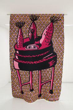 louis vutton x eko nugroho embroidery installation