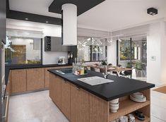 Projekt domu Padme 3 WZ 145,31 m2 - koszt budowy - EXTRADOM House Plans, Conference Room, Sweet Home, Villa, Mykonos, Kitchen, Furniture, Home Decor, Plants