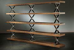 Metal and Wood Bookshelves