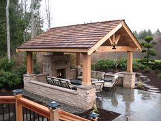 Outdoor kitchens are the perfect way to enhance patios, yards and outdoor spaces. Most homeowners also consider paradise outdoor. Backyard Pavilion, Outdoor Pavilion, Backyard Patio Designs, Backyard Retreat, Backyard Gazebo, Outdoor Living Areas, Outdoor Rooms, Outside Living, Gazebos