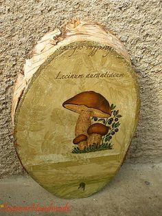 drevený obraz vhodný na chatu i chalupu 30cm