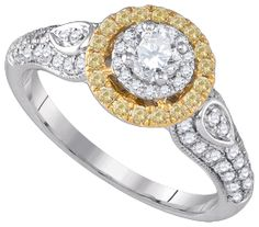 a traditional design with a contemporary twist.  this yellow diamond bridal ring is sure to become  an heirloom.