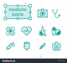 Thin line icons set, Linear symbols set, Medicine Photo by thesomeday123 on Shutterstock