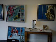 """Expositie maart/april 2013 """"Aangespoeld""""met schilderijen van Marja Konijn en beelden van Kees Juffermans"""