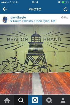 Barbour Beacon Brand logo. Woodcut stylee, nice patina Barbour, Logo Branding, Nice