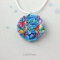 Necklace underwater pendant Ariel corals necklace от Liskaflower