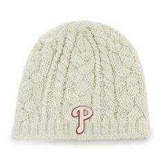 low priced 3a108 7ca51 Philadelphia Phillies Shawnee Knit Natural 47 Brand Womens Hat