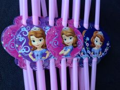 Sofia the First Disney Princess PARTY STRAWS Birthday Party Supplies decorations on Etsy, $6.99